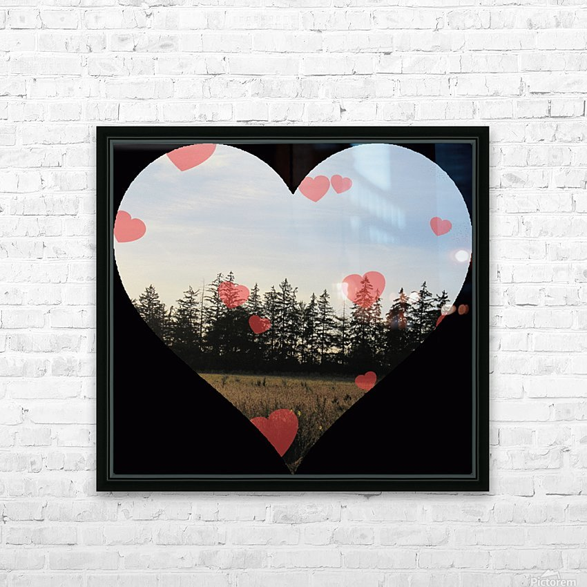 Heart (21).gif HD Sublimation Metal print with Decorating Float Frame (BOX)