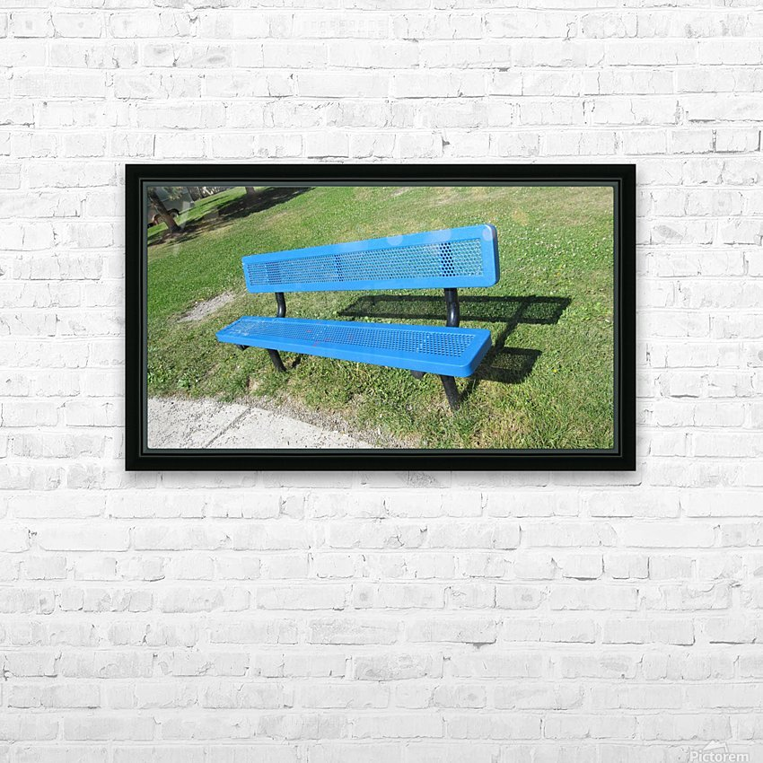 Bench (19) HD Sublimation Metal print with Decorating Float Frame (BOX)