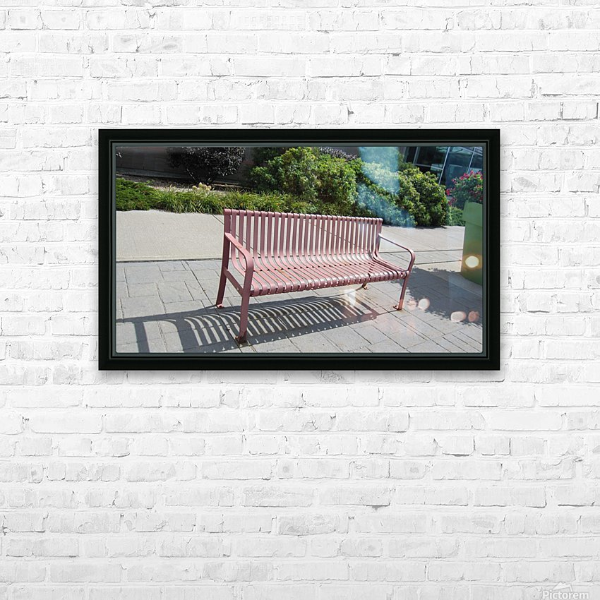 Bench (50) HD Sublimation Metal print with Decorating Float Frame (BOX)
