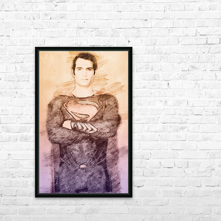 Superman HD Sublimation Metal print with Decorating Float Frame (BOX)