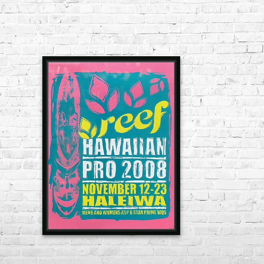 2008 REEF HAWAIIAN PRO Surf Competition Poster HD Sublimation Metal print with Decorating Float Frame (BOX)