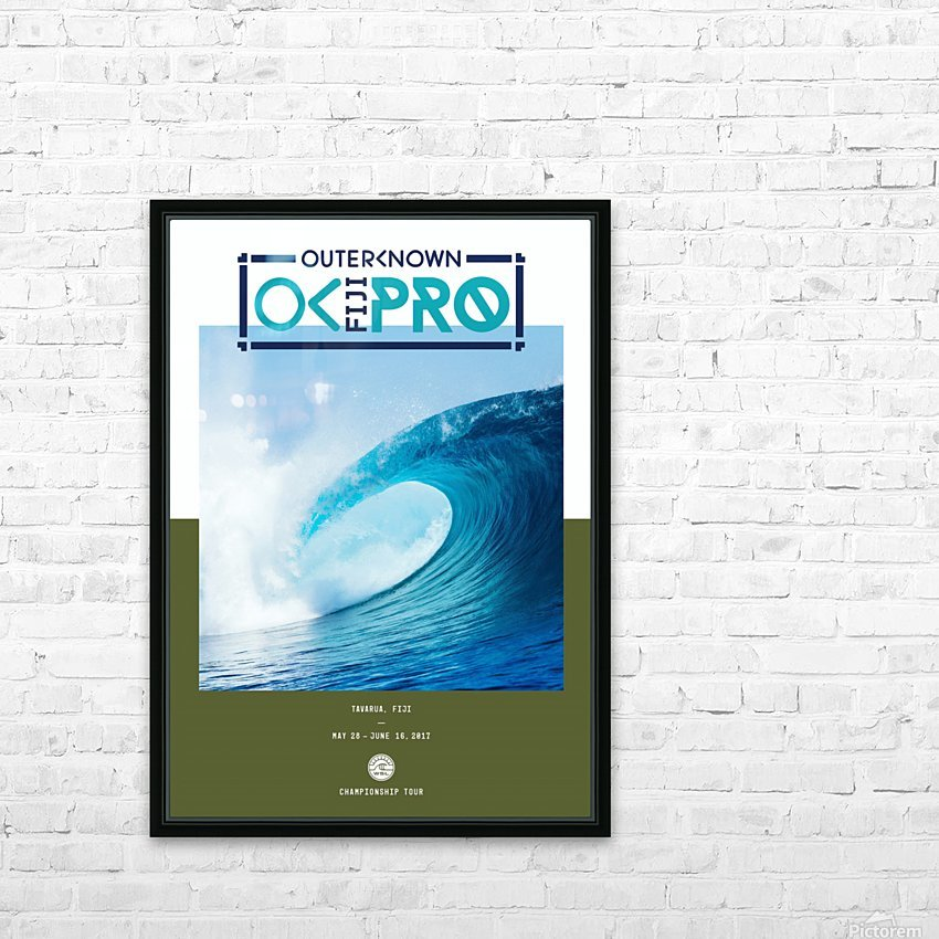 2017 OUTERKNOWN FIJI PRO Surf Competition Print HD Sublimation Metal print with Decorating Float Frame (BOX)