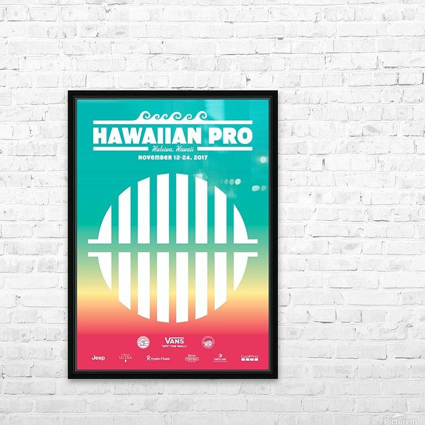 2017 HAWAIIAN PRO Surf Competition Print HD Sublimation Metal print with Decorating Float Frame (BOX)