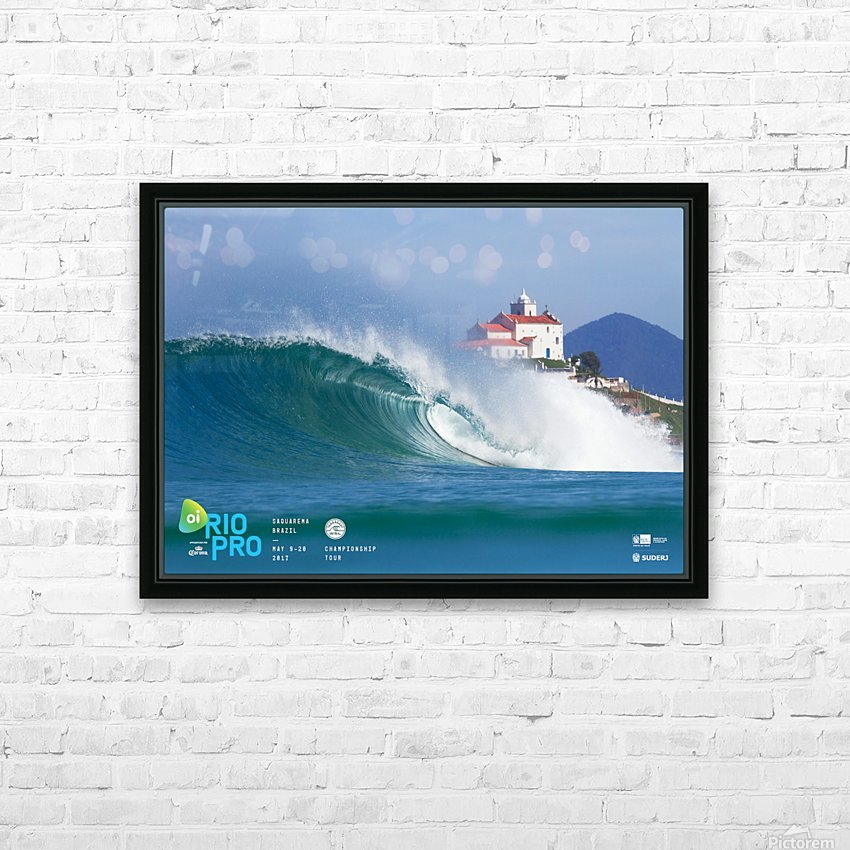 2017 RIO PRO Surf Competition Print HD Sublimation Metal print with Decorating Float Frame (BOX)