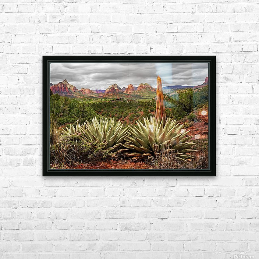Storm over Sedona HD Sublimation Metal print with Decorating Float Frame (BOX)