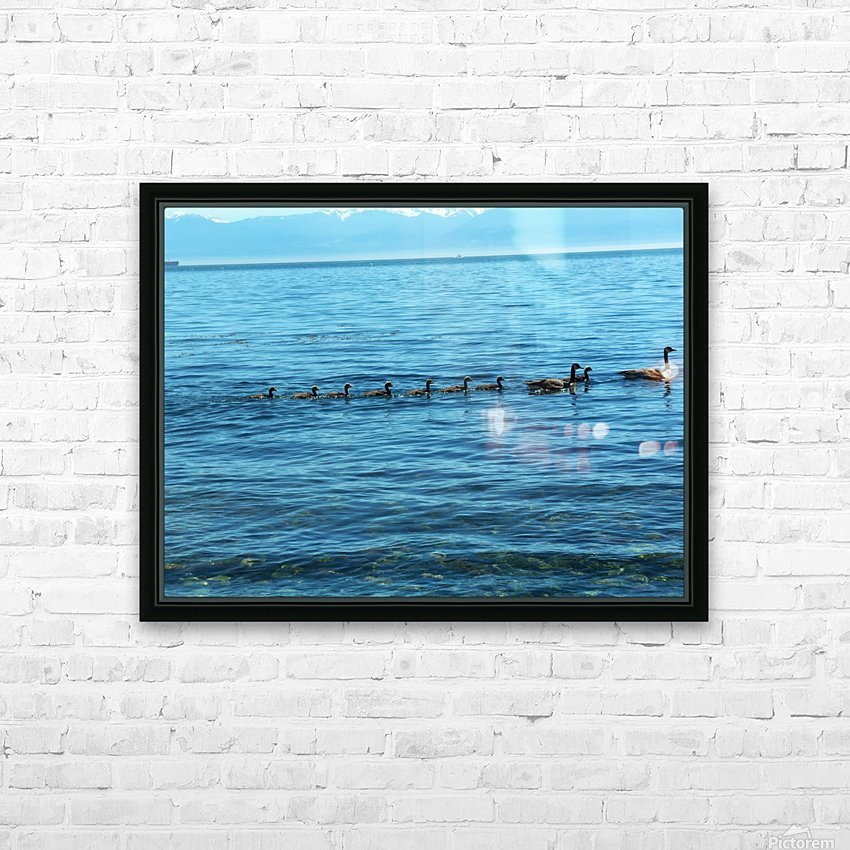 Geese HD Sublimation Metal print with Decorating Float Frame (BOX)