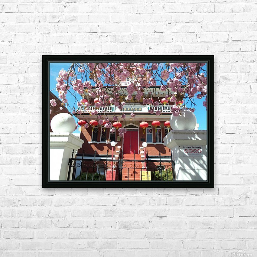 Victoria BC China town HD Sublimation Metal print with Decorating Float Frame (BOX)