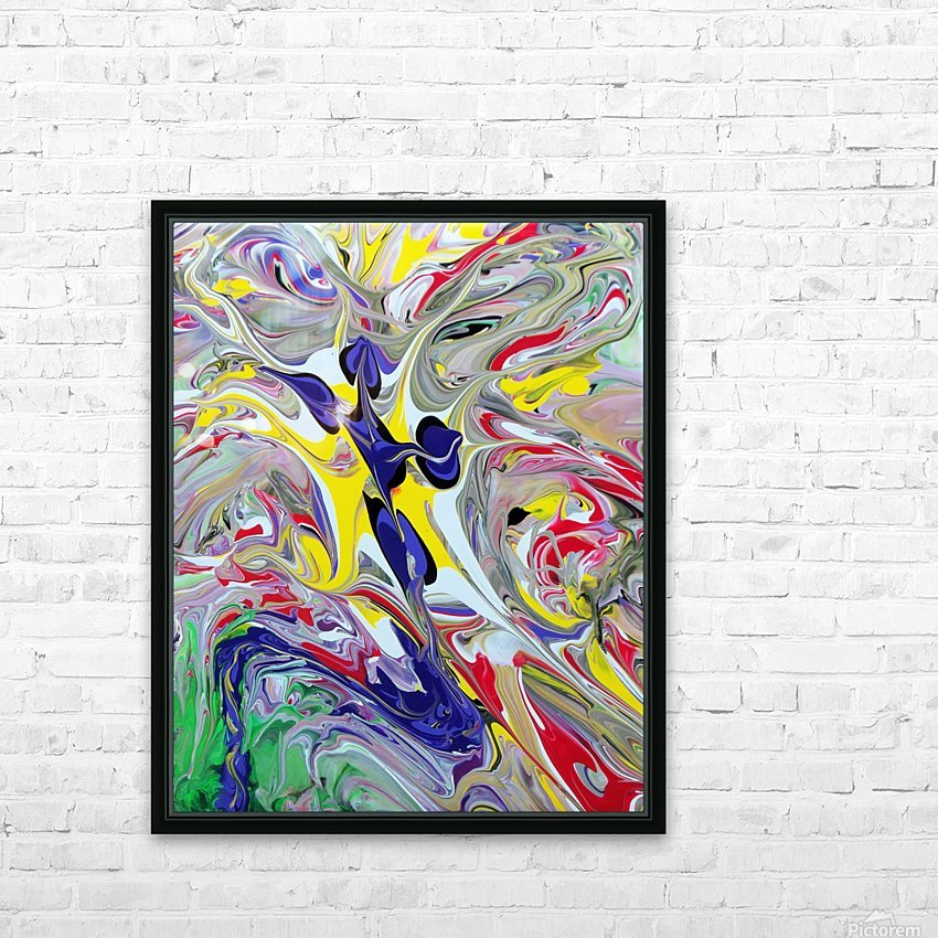 Tribal Dancer HD Sublimation Metal print with Decorating Float Frame (BOX)