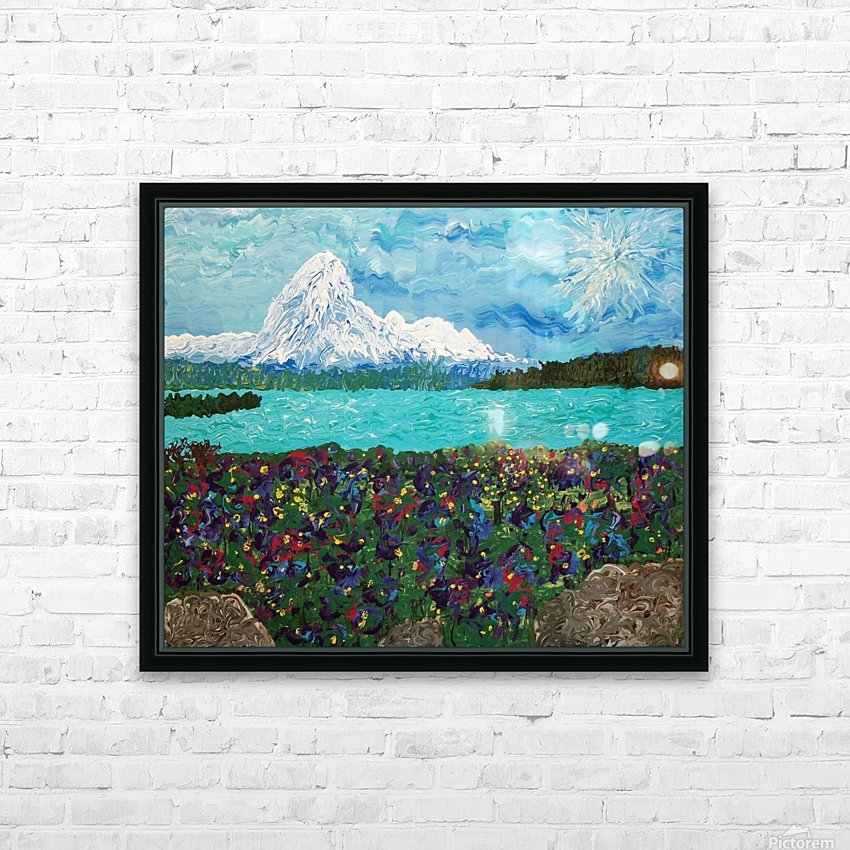 Mount Baker HD Sublimation Metal print with Decorating Float Frame (BOX)