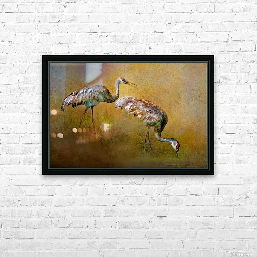 Foraging Sandhills HD Sublimation Metal print with Decorating Float Frame (BOX)