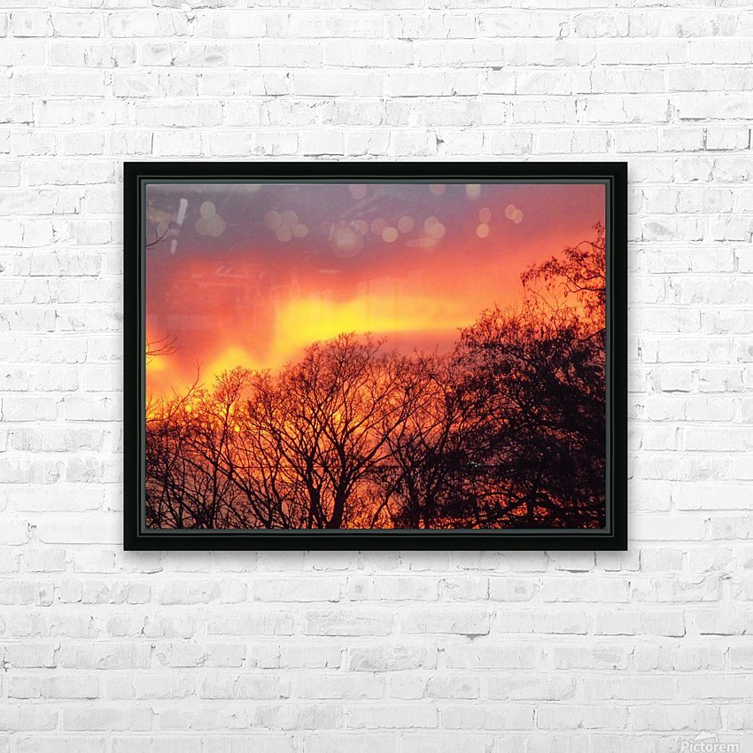 Sunset 1 HD Sublimation Metal print with Decorating Float Frame (BOX)