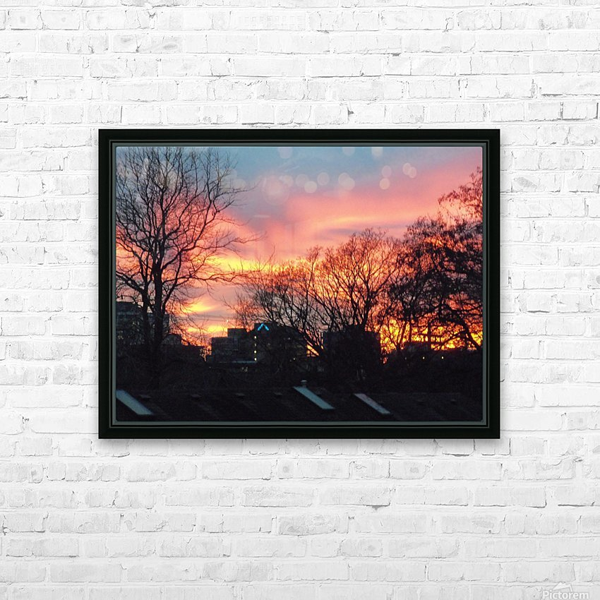 Sunset 2 HD Sublimation Metal print with Decorating Float Frame (BOX)