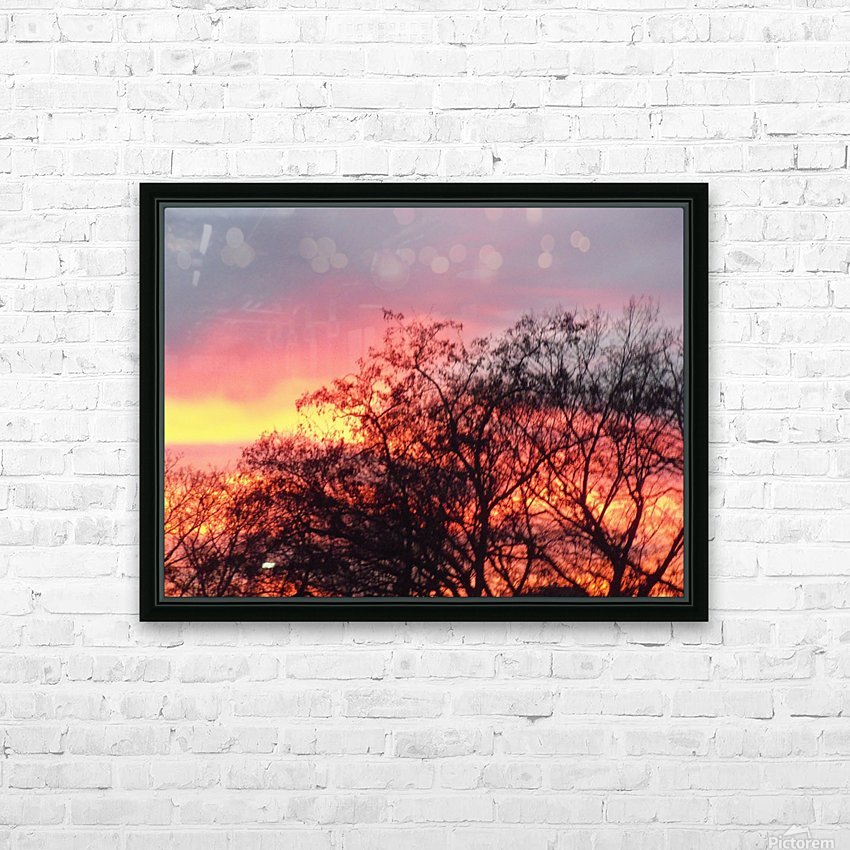 Sunset 3 HD Sublimation Metal print with Decorating Float Frame (BOX)