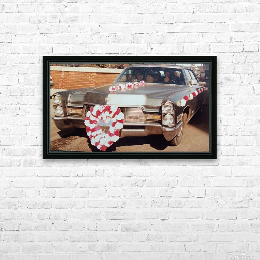 Cadillac 1968 HD Sublimation Metal print with Decorating Float Frame (BOX)
