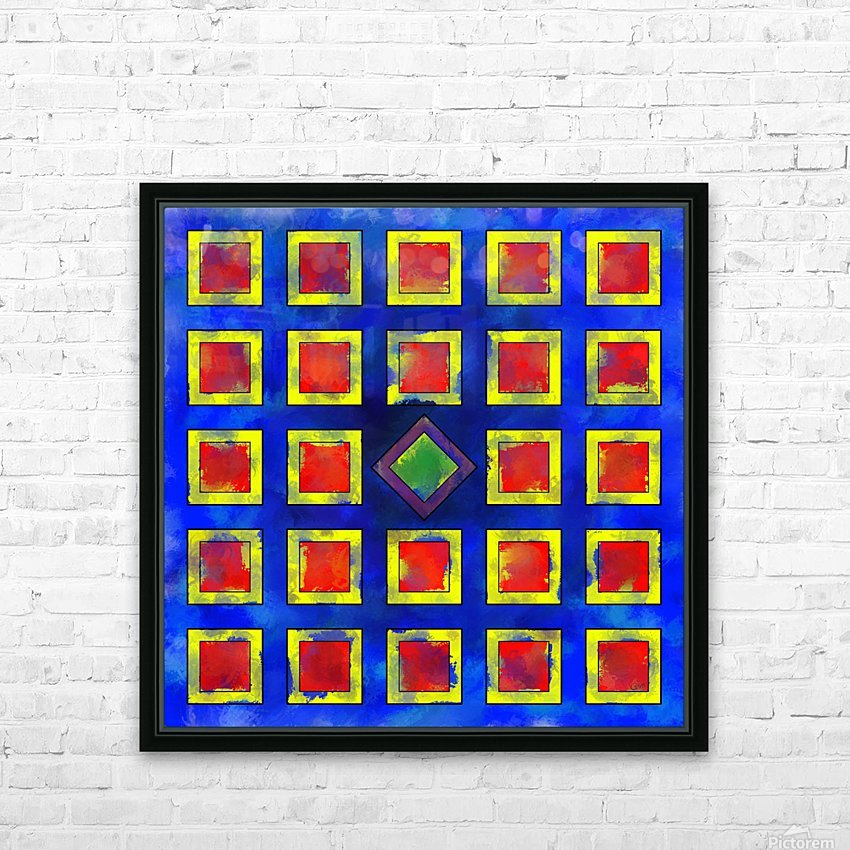 Verhomera - abstract cube worlds HD Sublimation Metal print with Decorating Float Frame (BOX)