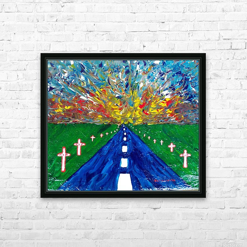 Highway to Hell HD Sublimation Metal print with Decorating Float Frame (BOX)