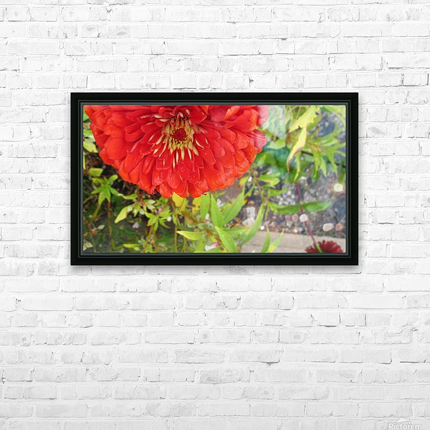Flower (7) HD Sublimation Metal print with Decorating Float Frame (BOX)