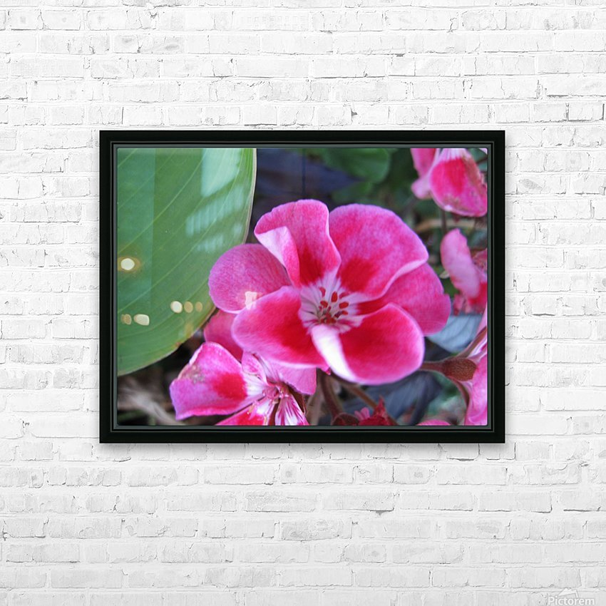 Flower (2) HD Sublimation Metal print with Decorating Float Frame (BOX)