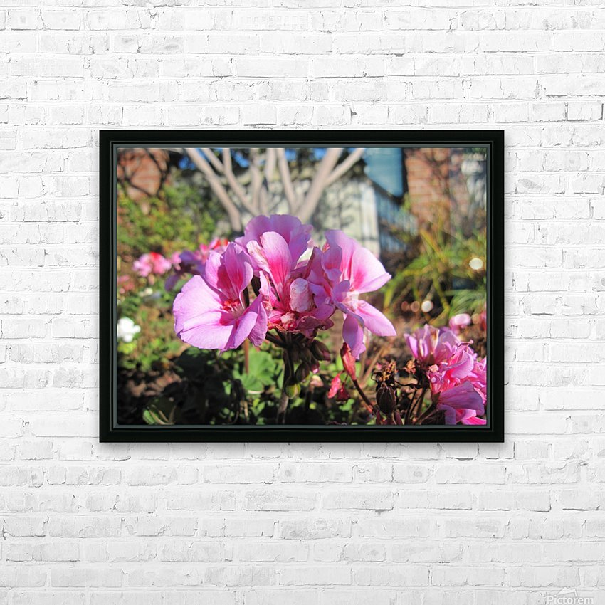 Flower (111) HD Sublimation Metal print with Decorating Float Frame (BOX)