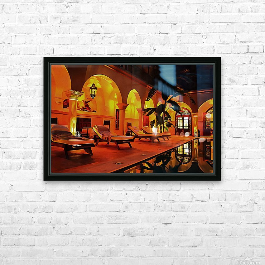 Riad At Night In Marrakech HD Sublimation Metal print with Decorating Float Frame (BOX)