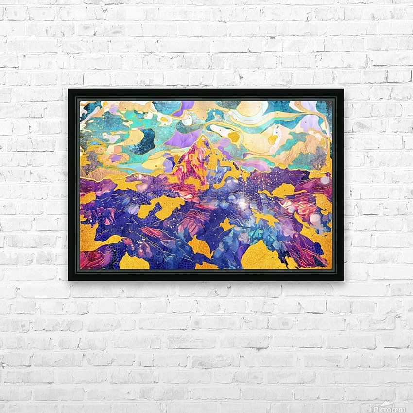 Dreamy Mountain - Illustration II HD Sublimation Metal print with Decorating Float Frame (BOX)
