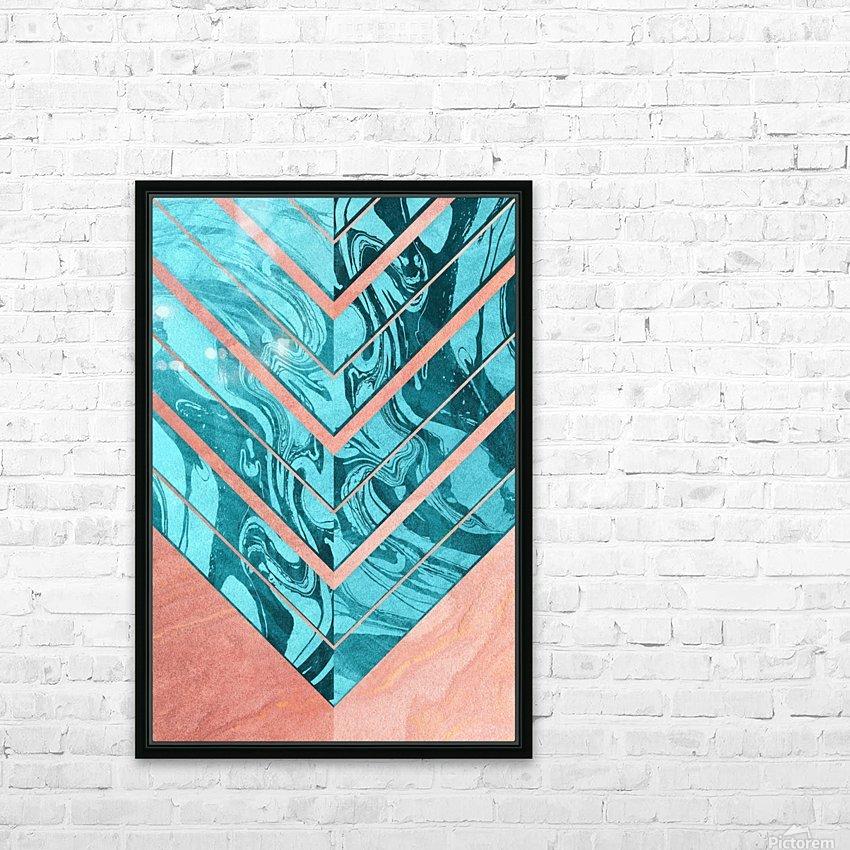 Geometric XXXXVI HD Sublimation Metal print with Decorating Float Frame (BOX)