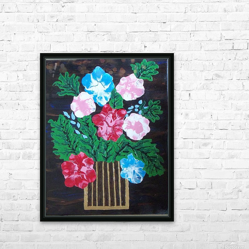 Flowers in box HD Sublimation Metal print with Decorating Float Frame (BOX)