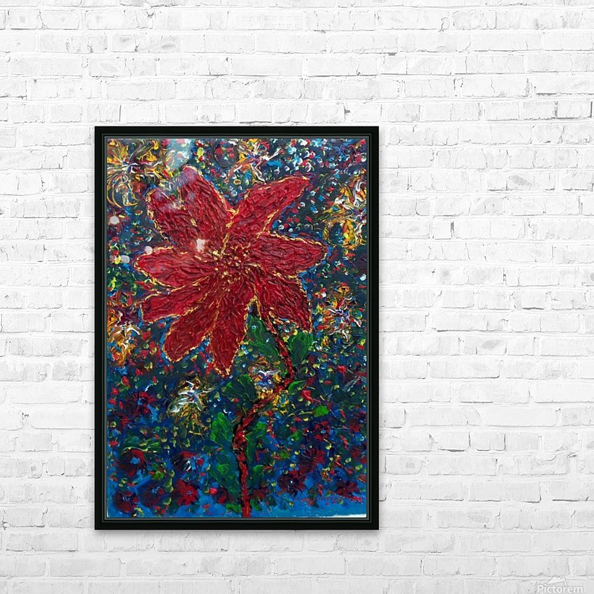Red Flower HD Sublimation Metal print with Decorating Float Frame (BOX)