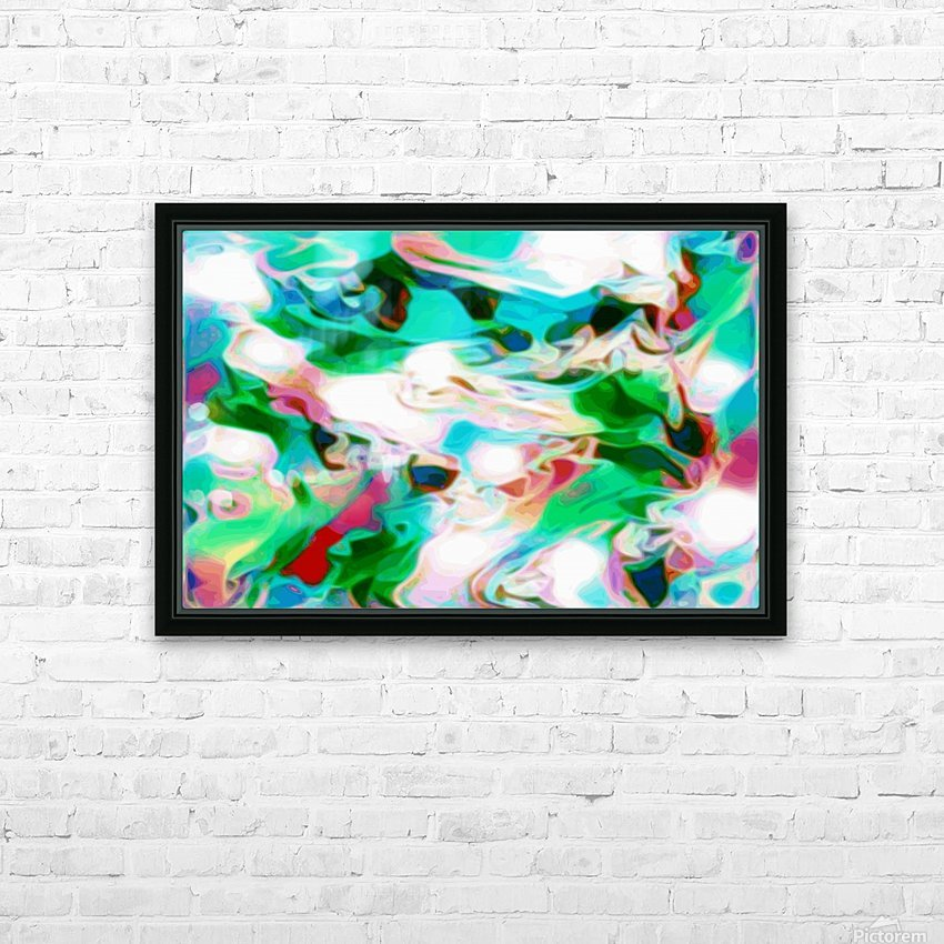 Waterfall - multicolor abstract swirl wall art HD Sublimation Metal print with Decorating Float Frame (BOX)