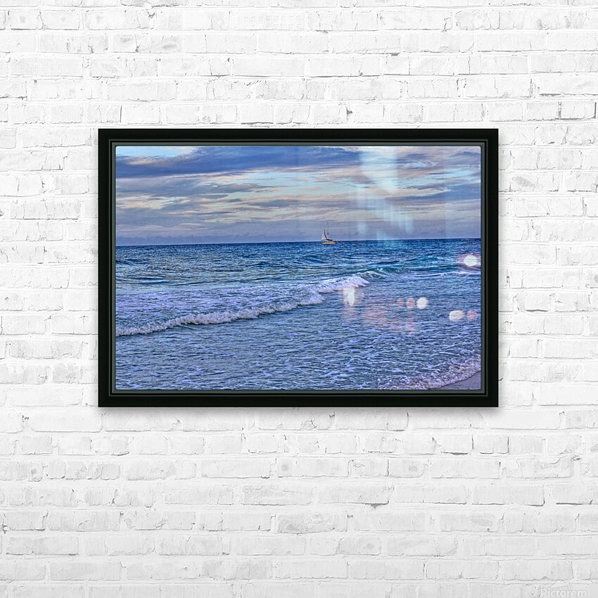 On The Deep Blue Sea HD Sublimation Metal print with Decorating Float Frame (BOX)