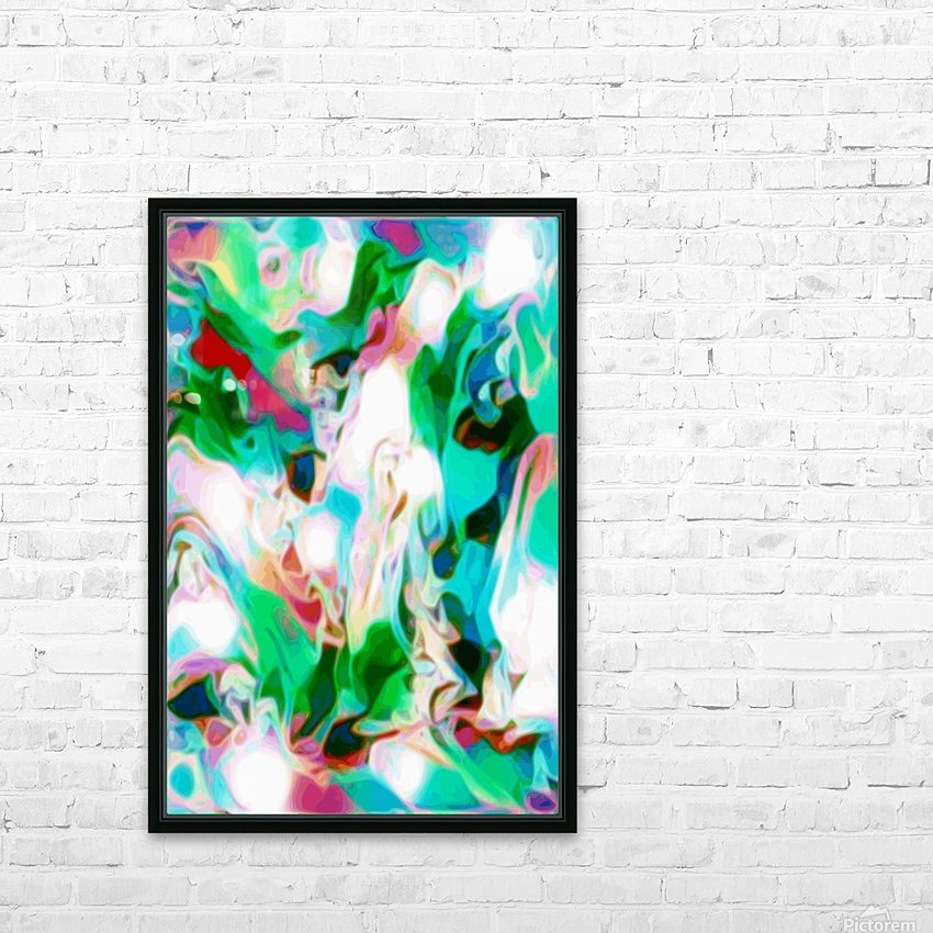 Waterfall vertical - multicolor abstract swirls HD Sublimation Metal print with Decorating Float Frame (BOX)