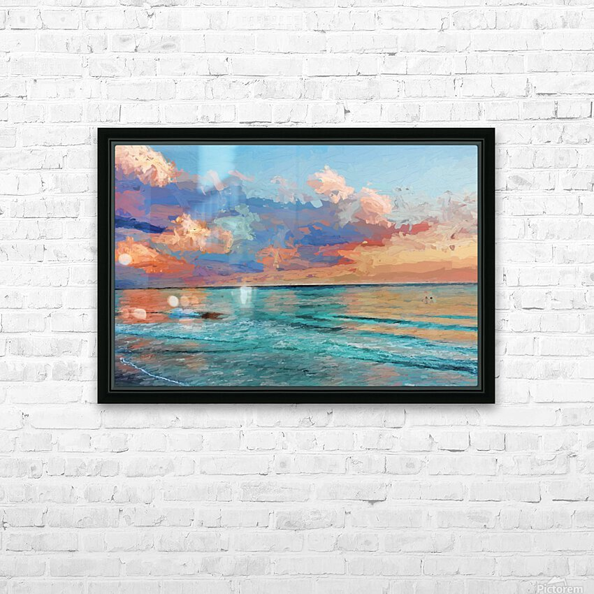 Seascape Serenade HD Sublimation Metal print with Decorating Float Frame (BOX)