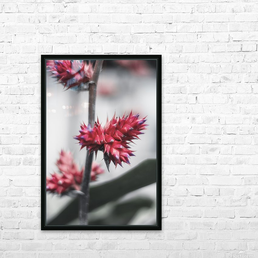spiked flower HD Sublimation Metal print with Decorating Float Frame (BOX)
