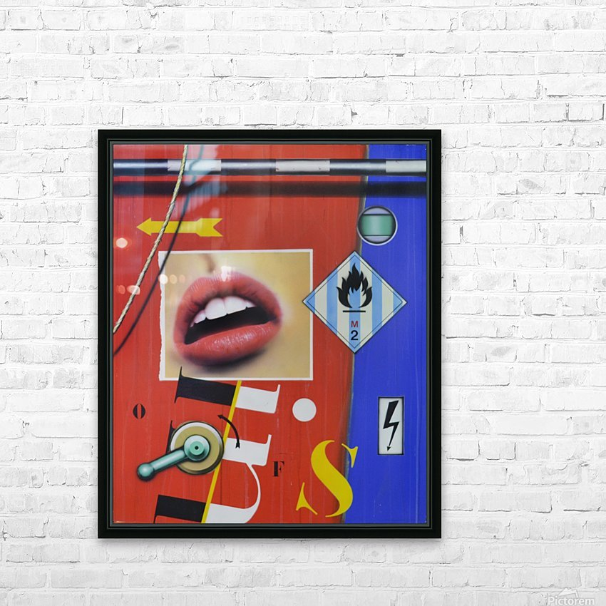 Blue Red Mouth HD Sublimation Metal print with Decorating Float Frame (BOX)