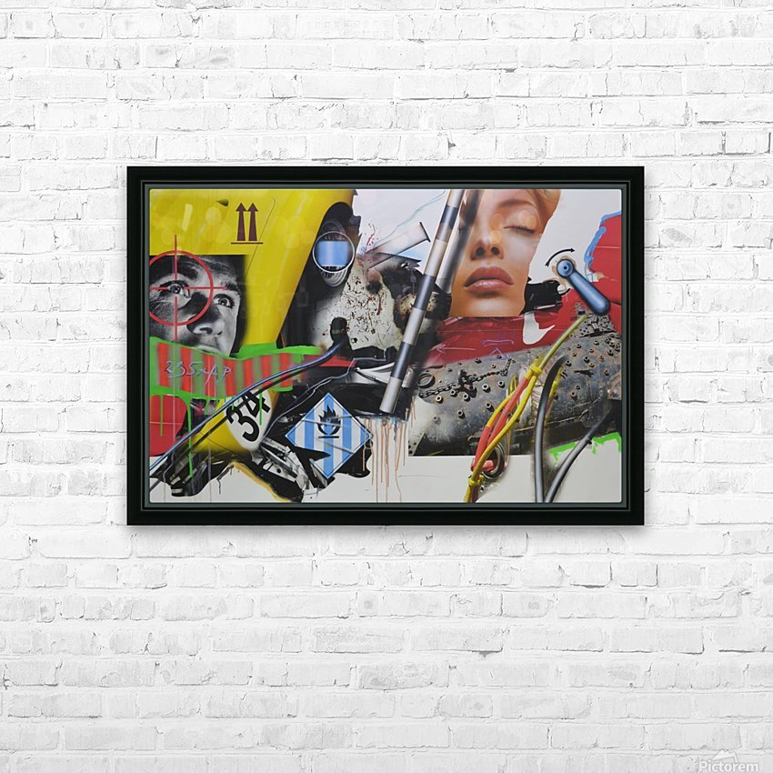 Young Lady Is Dreaming HD Sublimation Metal print with Decorating Float Frame (BOX)