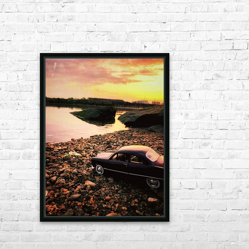 By the rivers of.... HD Sublimation Metal print with Decorating Float Frame (BOX)