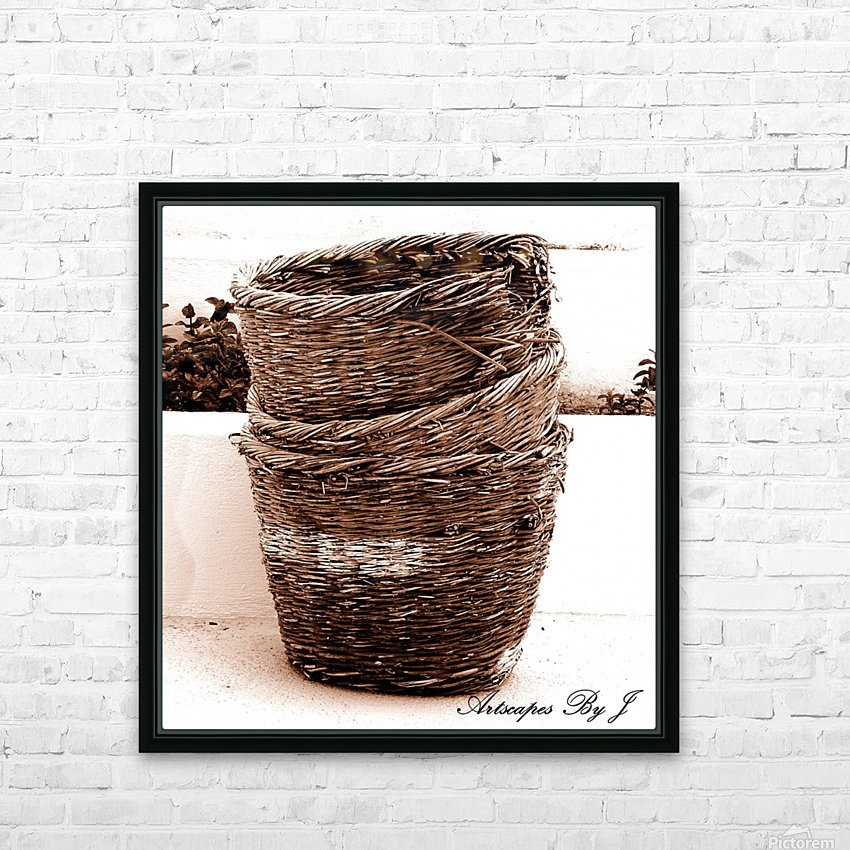 Grape Baskets HD Sublimation Metal print with Decorating Float Frame (BOX)