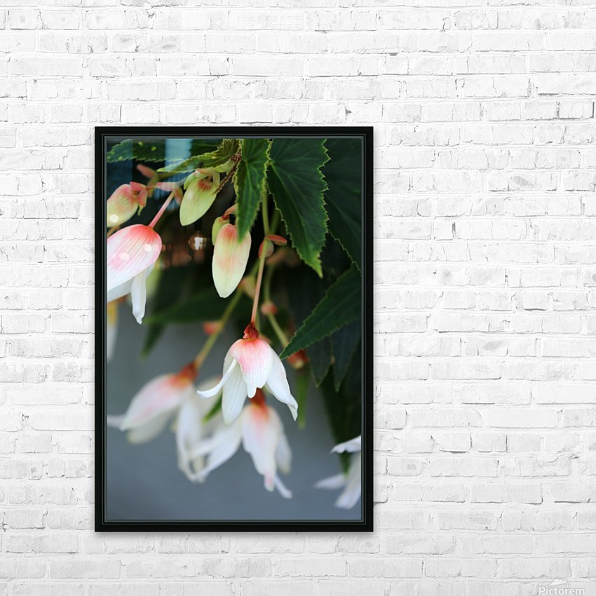Soft Floral with Gray Wall 2 062618 HD Sublimation Metal print with Decorating Float Frame (BOX)
