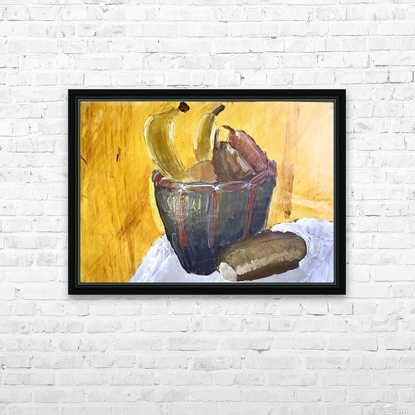 Bananas HD Sublimation Metal print with Decorating Float Frame (BOX)