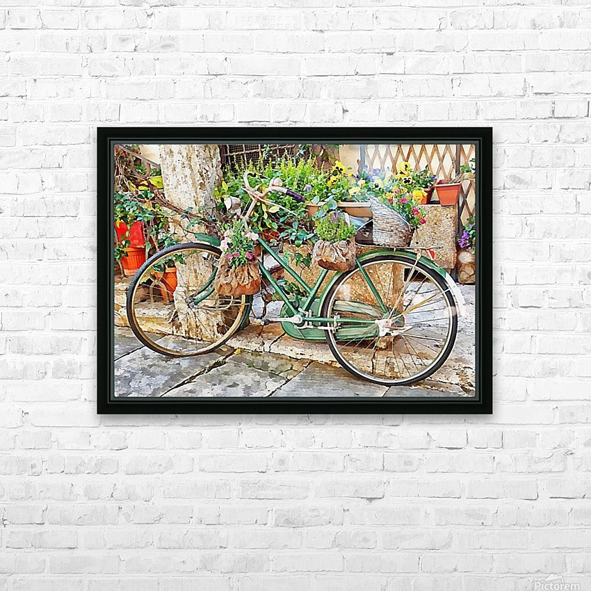 Decorative Bicycle In Cortona HD Sublimation Metal print with Decorating Float Frame (BOX)