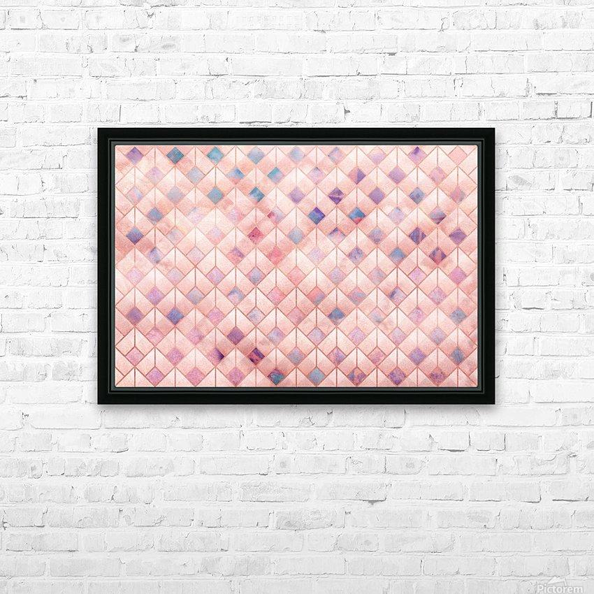 Geometric XXXXVII HD Sublimation Metal print with Decorating Float Frame (BOX)