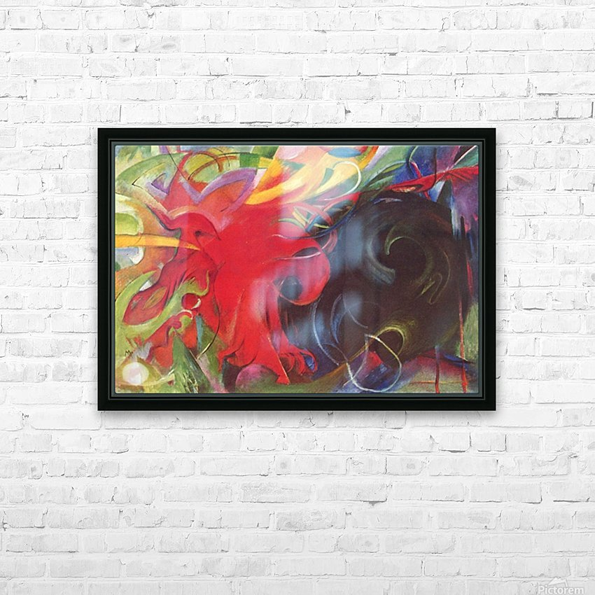 Fighting forms by Franz Marc HD Sublimation Metal print with Decorating Float Frame (BOX)