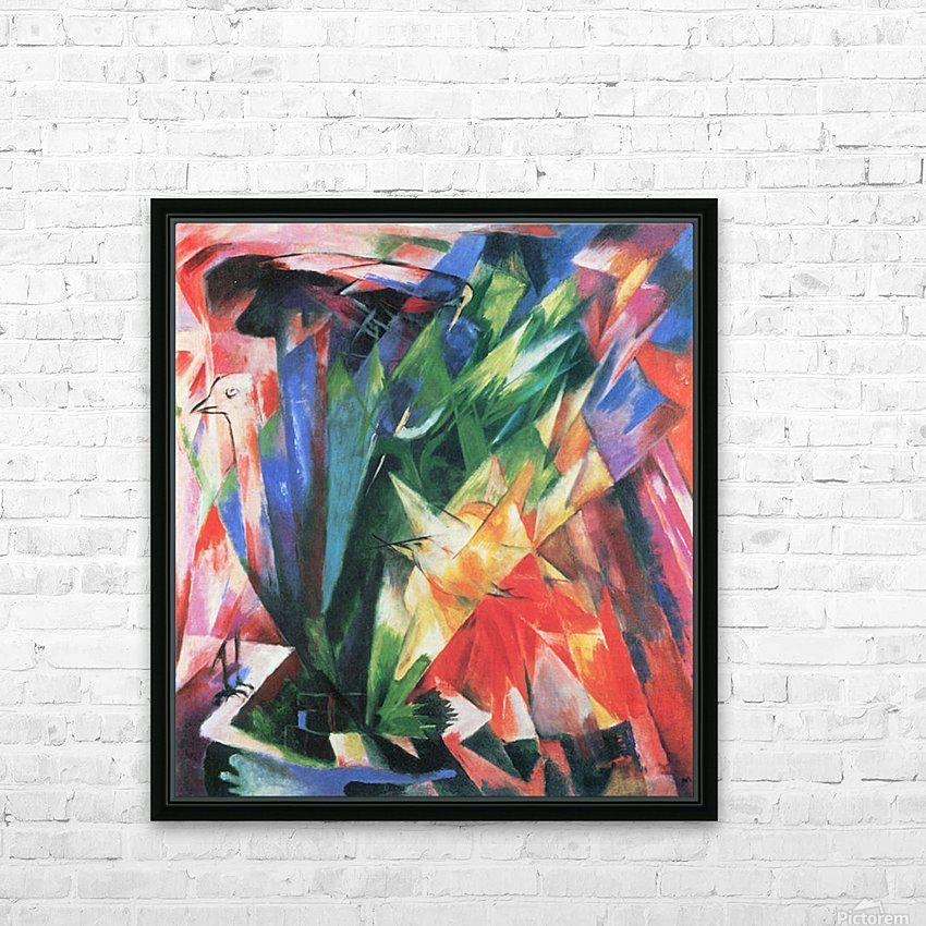Fowl by Franz Marc HD Sublimation Metal print with Decorating Float Frame (BOX)