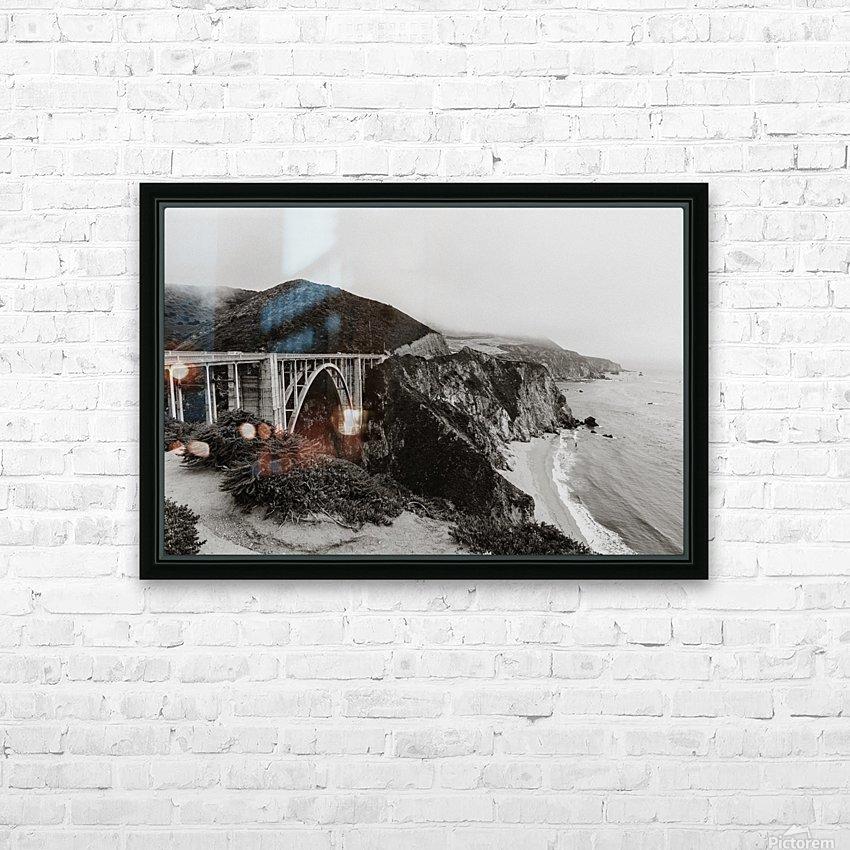 Bixby Bridge B&W HD sublimation métal imprimé avec décoration flotteur cadre (boîte)