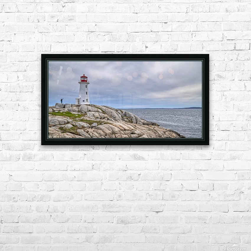 Alone at Peggys Cove. HD Sublimation Metal print with Decorating Float Frame (BOX)