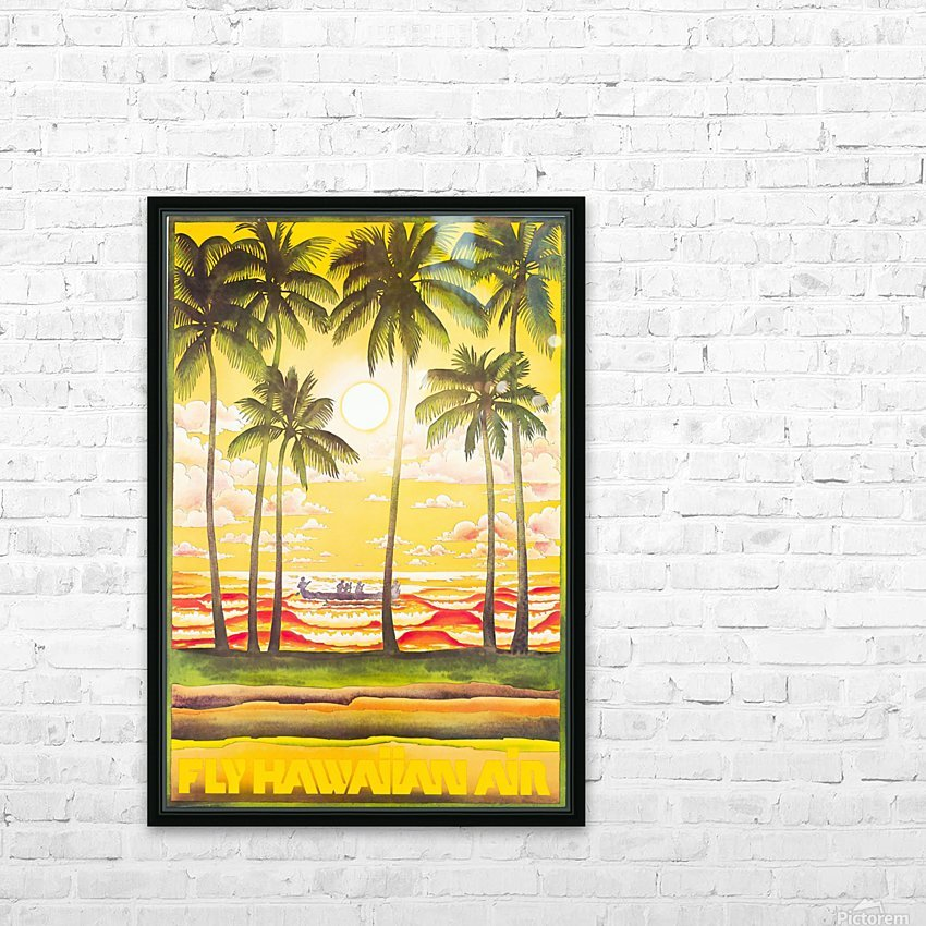 HAWAII TRAVEL POSTER HD Sublimation Metal print with Decorating Float Frame (BOX)