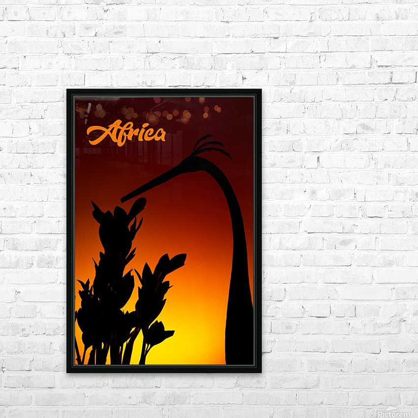Africa sunrise HD Sublimation Metal print with Decorating Float Frame (BOX)