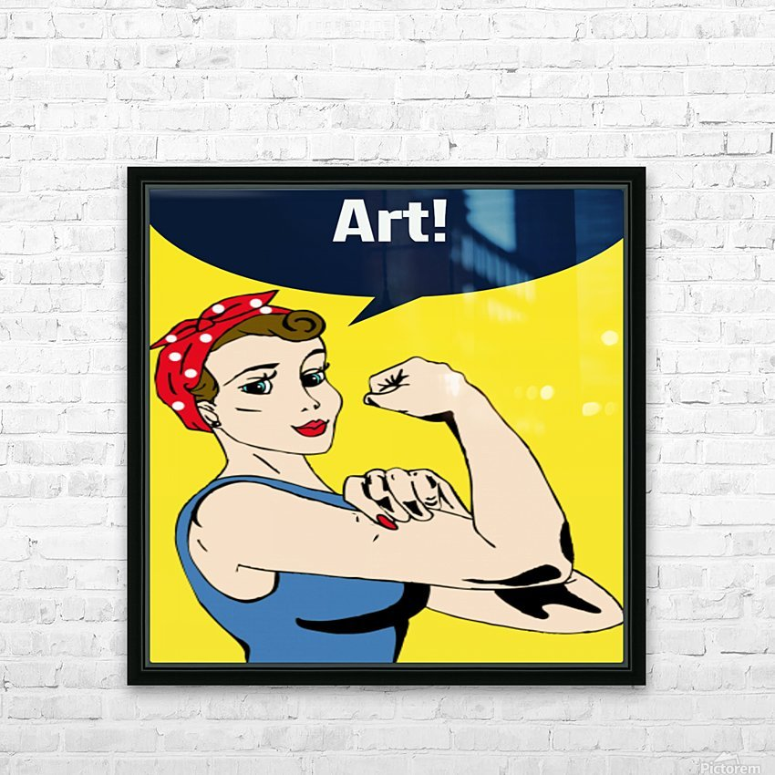 Art Can Do It HD Sublimation Metal print with Decorating Float Frame (BOX)