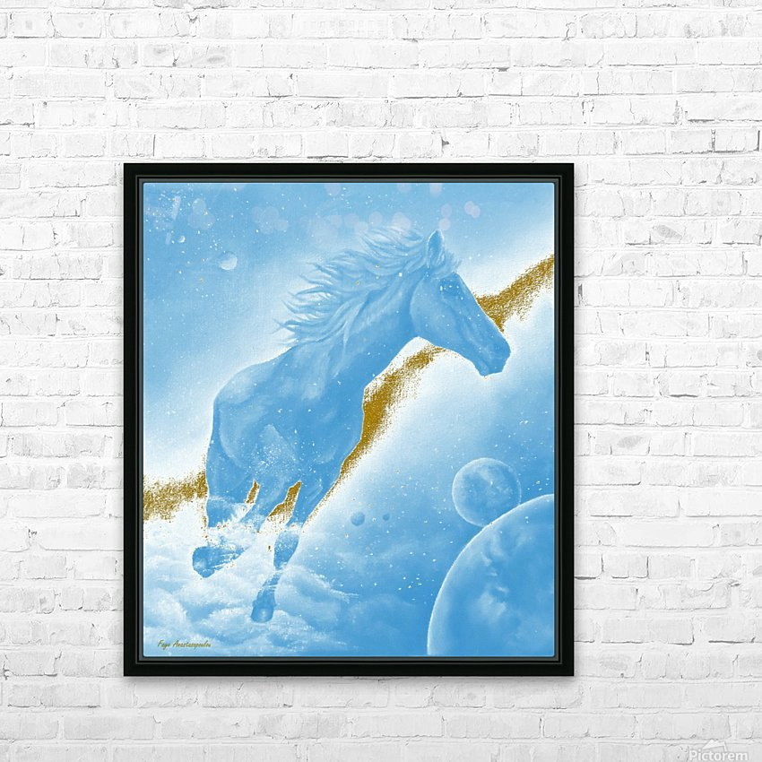 Celestial Horse HD Sublimation Metal print with Decorating Float Frame (BOX)