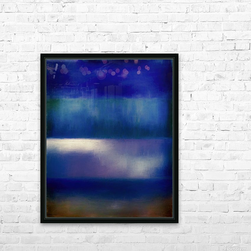 Color of the Blues HD Sublimation Metal print with Decorating Float Frame (BOX)